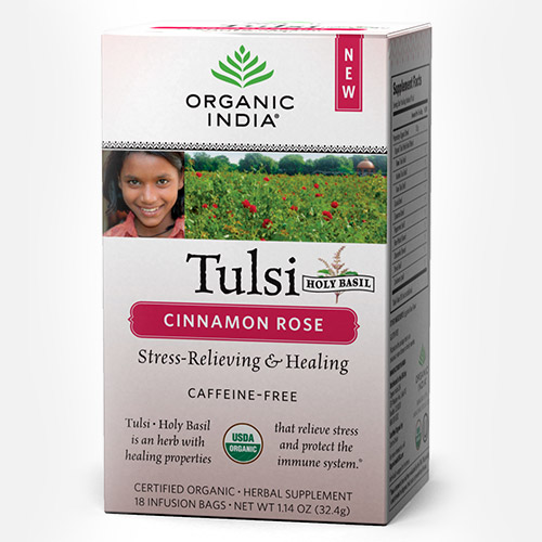 Tulsi Cinnamon Rose Tea - Zakje (Organic India)