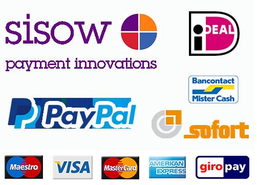 Betalen met Visa, Mastercard, iDeal en meer...